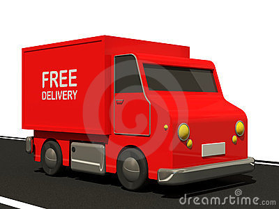 Delivery Van on Road