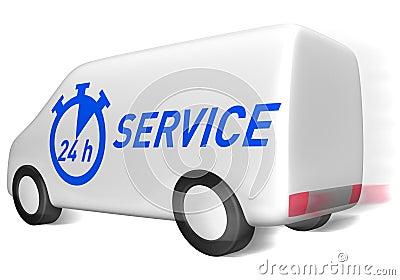 Delivery van service