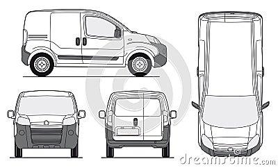 Delivery Van Template - Vector
