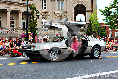 DeLorean in Festival Parade Editorial Stock Photo