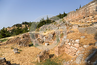 Delphi. Ancient Ruins Stock Photography - Image: 34580172