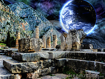 Image result for temple of apollo at delphi
