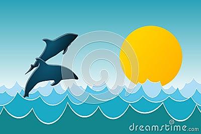 Delphin-Spiel
