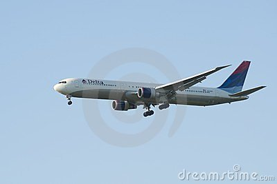 Delta Air Lines, Boeing 767 Editorial Stock Image
