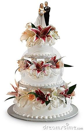 Free Deluxe Wedding Cake Royalty Free Stock Photo - 2142315