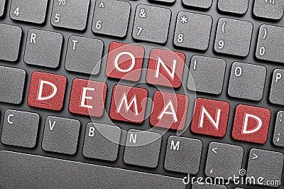 On demand on keyboard