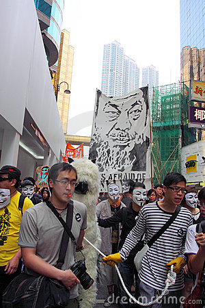 Demand Release of Ai Weiwei in Hong Kong Editorial Stock Image