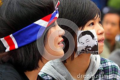 Demand Release of Ai Weiwei in Hong Kong Editorial Stock Photo
