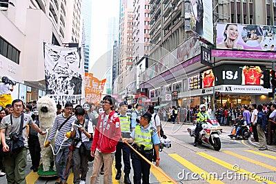 Demand Release of Ai Weiwei in Hong Kong Editorial Photography