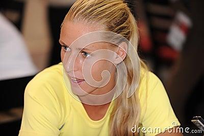 Dementieva Elena at Rogers Cup 2009 (5) Editorial Stock Photo