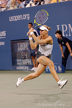 Dementieva Elena at US Open 2008 (1) Editorial Stock Photo