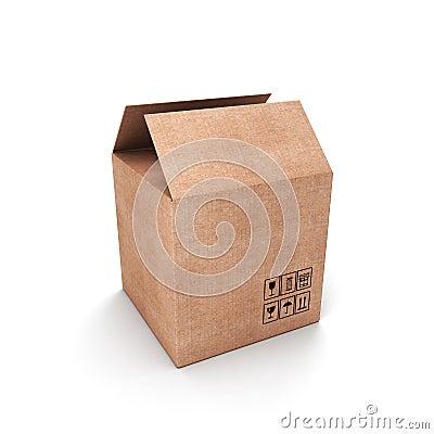Demi bo te en carton ouverte image libre de droits image - Boite a chaussure en carton ...