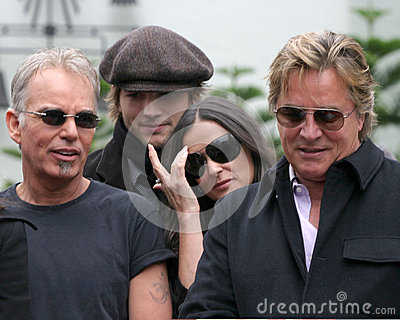 Demi Moore,Don Johnson,Ashton Kutcher,Billy Bob Thornton,Billy BOBS Thornton,Bruce Willis Editorial Photo