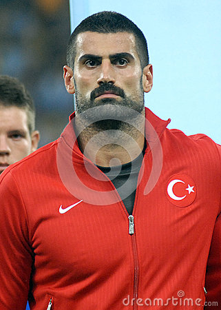 Demirel Volkan in Romania-Turkey World Cup Qualifier Game Editorial Photography