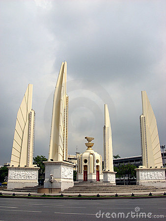 Democracy monument, in Bangkok, Thailand