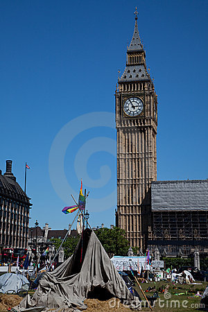 Democracy Village in Parliament Square Editorial Stock Image