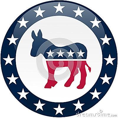Free Democrat Button - White And Blue Royalty Free Stock Photo - 5104965