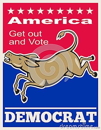 Democrat Donkey Mascot America Vote Editorial Stock Photo