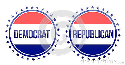 Democrat and republican seals
