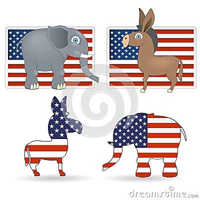 Democrat and republican symbols