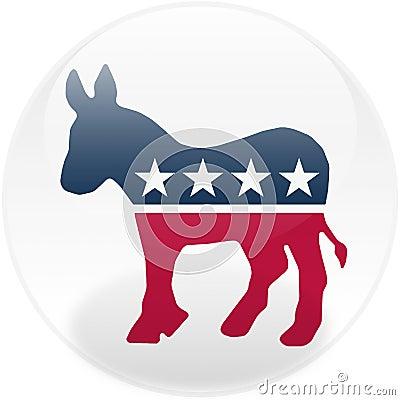 Democrat Round Button