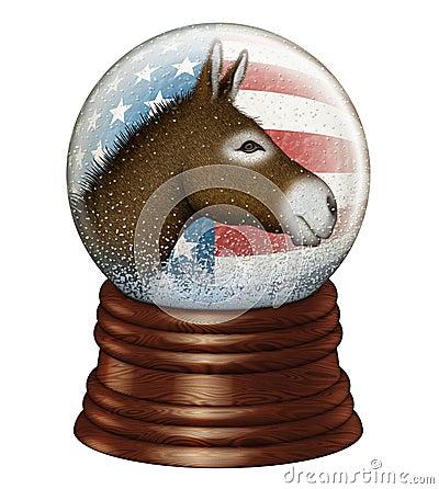 Free Democrat Snow Globe Stock Photo - 35907430