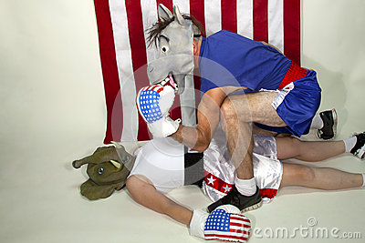 Democrat Victory Editorial Stock Photo