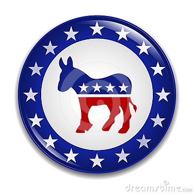 Democratic Party Logo Badge Editorial Stock Image