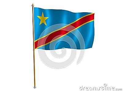 Democratic Republic of the Congo silk flag
