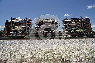 Demolished automobiles Editorial Photography