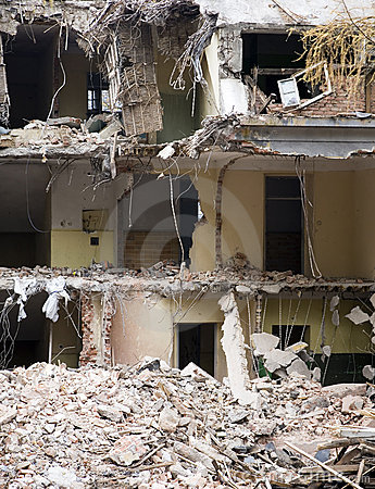 Demolished building