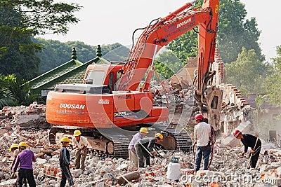 Demolition Editorial Photo