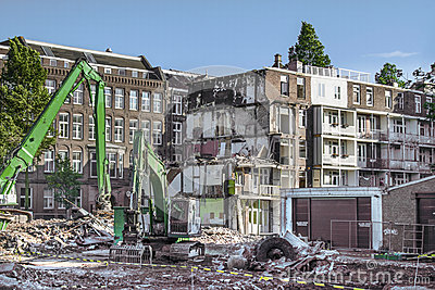 Demolition in Amsterdam