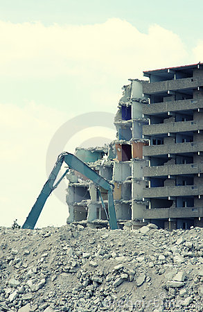 Demolition of a building 2