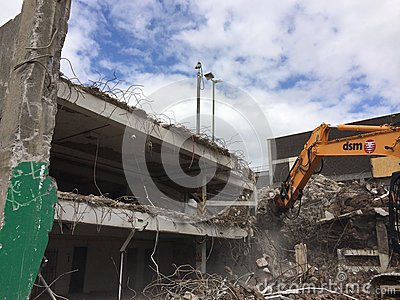 Demolition of car park in Mayflower Plymouth Editorial Photography