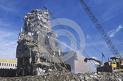 Demolition crew Editorial Image