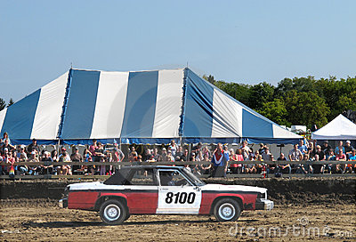 Demolition derby car and crowd Editorial Stock Photo