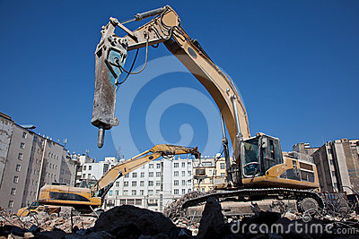 Demolition hydraulic hammer