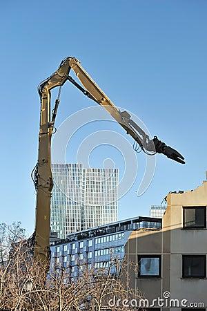 Building demolition on site