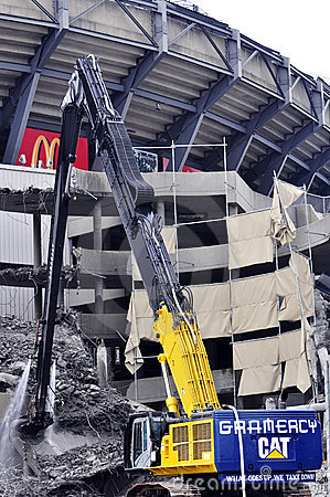 Free Demolition Of Giants Stadium Stock Photos - 12878753