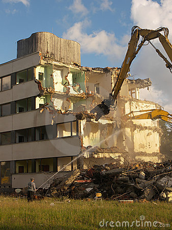 Demoliton - tearing a building
