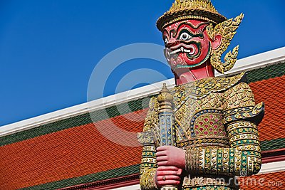 Demon guardian at Wat Pra Kaew