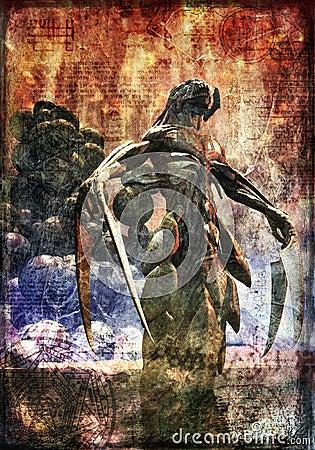Demon monster painted