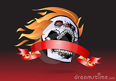 Demon  ribbon banner