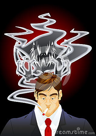 Demon of the smoke