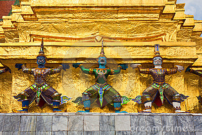 Demon Statues at Grand Palace