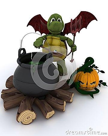 Demon Tortoise with cauldron of eyeballs