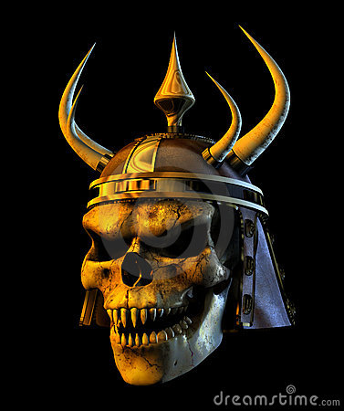Demon Warmonger Skull - with clipping path