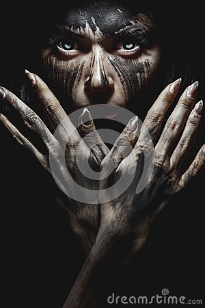 Free Demonic Look From Hell Royalty Free Stock Image - 70419266