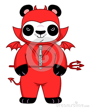Free Demonic Panda Stock Image - 87346011